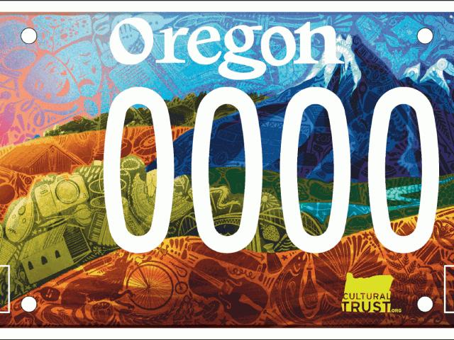 Announcing the new Celebrate Oregon! Cultural Trust License Plate!